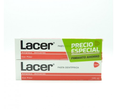 LACER PASTA DENTIFRICA DUPLO 2X125 ML Parafarmacia