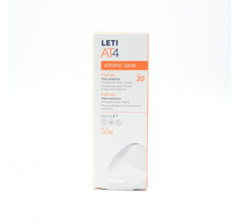 LETI AT-4 CREMA FACIAL SPF 20 50 ML Parafarmacia
