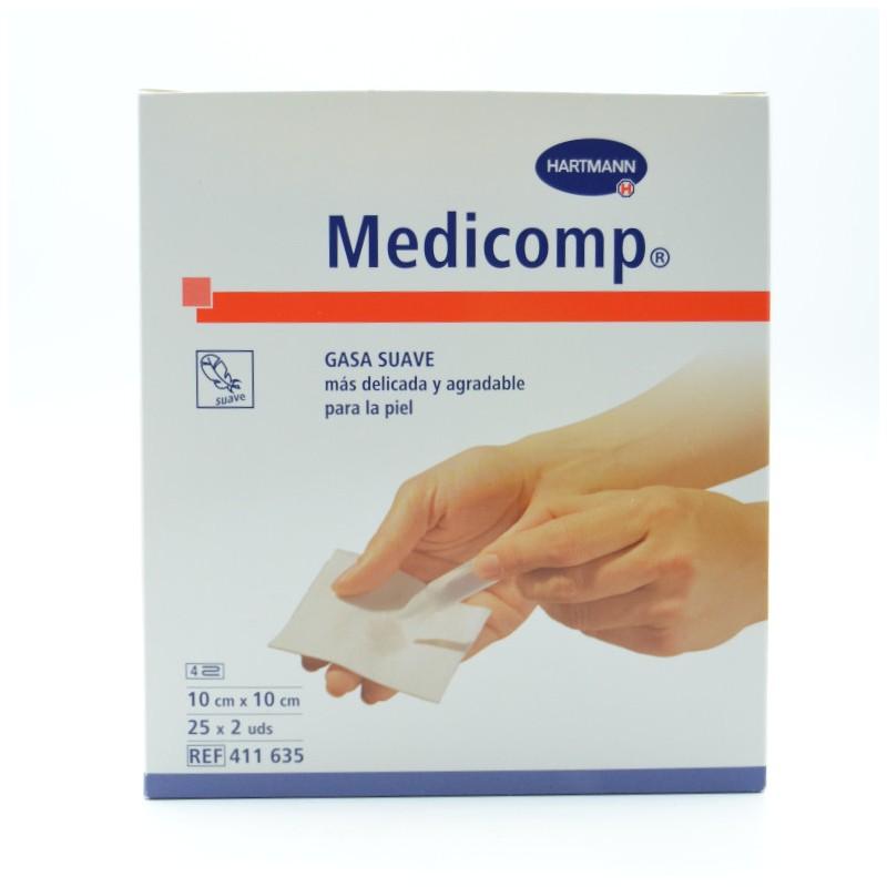 MEDICOMP 10X10 CM 50 U Parafarmacia
