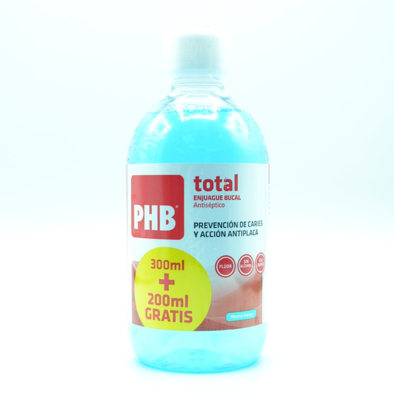 PHB TOTAL ENJUAGUE BUCAL 500 ML Parafarmacia