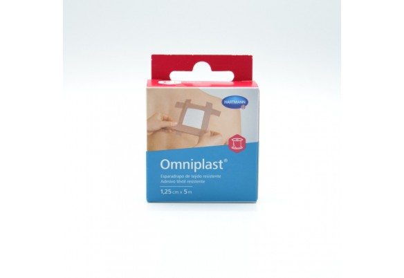 ESPARADRAPO OMNIPLAST TELA ROSA OTC 5 MX1,25 CM Parafarmacia