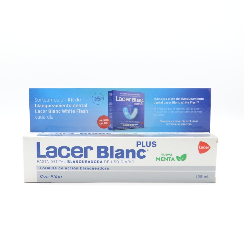 LACERBLANC PLUS MENTA 125 ML +20% GRATIS Parafarmacia