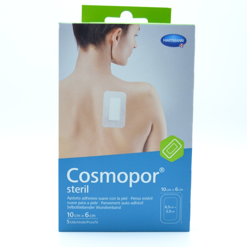 COSMOPOR STERIL 10X6 CM 5 APOSITOS Parafarmacia