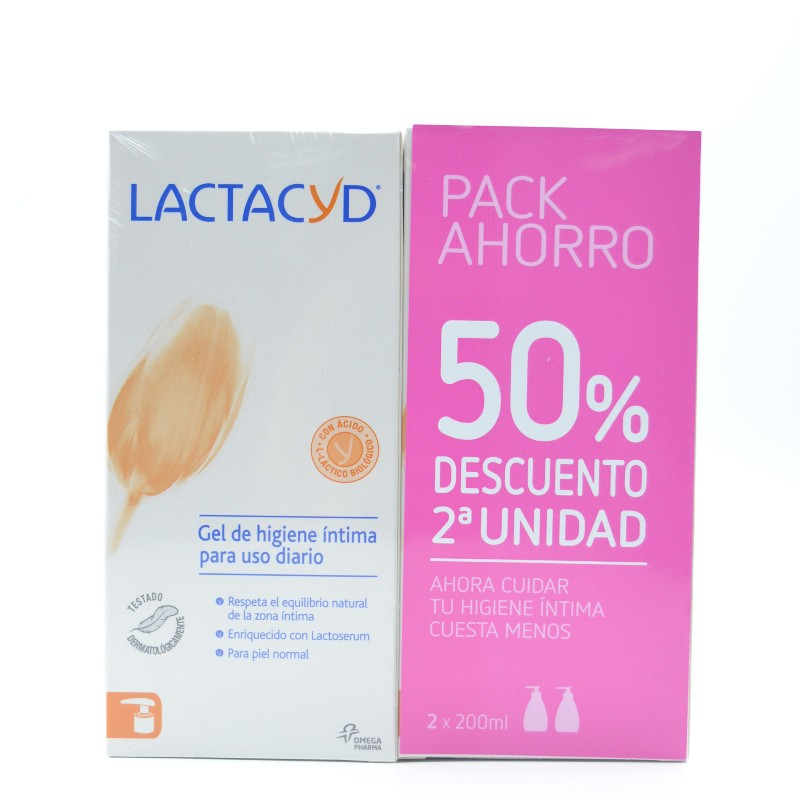 LACTACYD INTIMO DUPLO2ºU 50% Parafarmacia