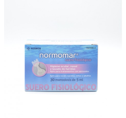SOLUCION FISIOLOGICA NORMOMAR 5 ML 30 MONODOSIS Parafarmacia