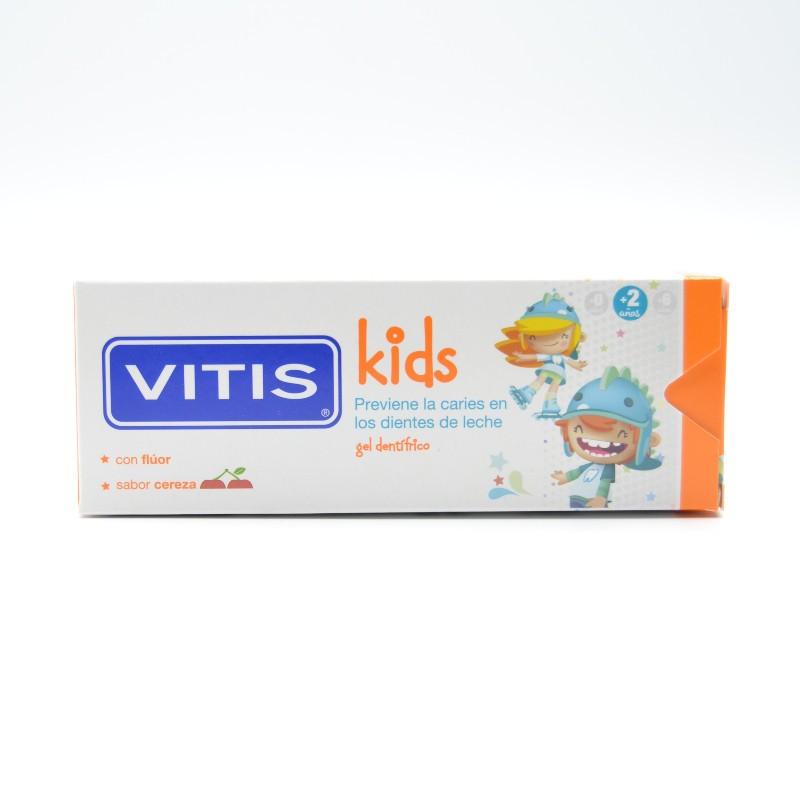 VITIS KIDS GEL DENTIFRICO 2-6 AÑOS 50ML SABOR CEREZA Parafarmacia