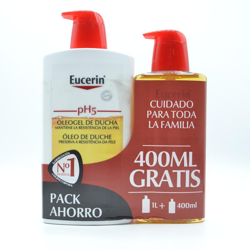 EUCERIN FAMILY PACK OLEOGEL 1L+400 ML GRATIS Parafarmacia
