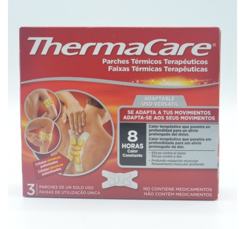 THERMACARE ADAPTABLE 3 PARCHES TERMICOS Parafarmacia