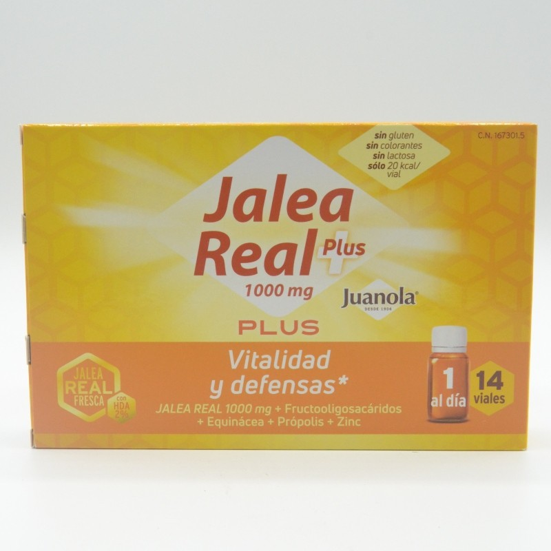 JUANOLA JALEA REAL PLUS 1000 MG 14 VIALES Parafarmacia