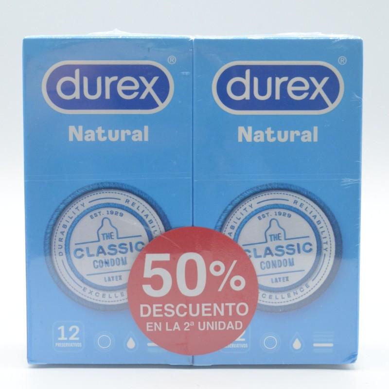 PRESERVATIVOS DUREX NATURAL PLUS DUPLO 2X12U Parafarmacia