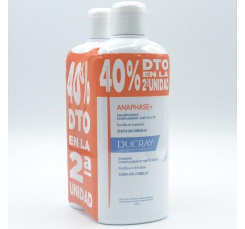 DUCRAY CHAMPU ANAPHASE+ DUPLO 40%DTO 2ªUD 2 X 400ML Parafarmacia
