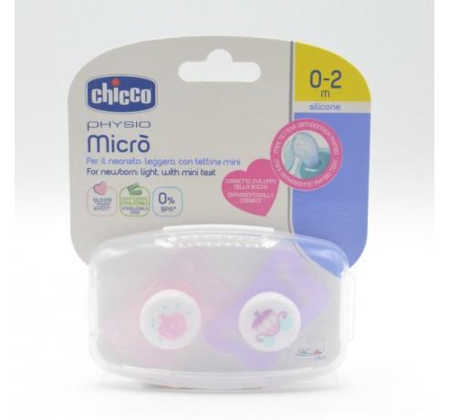 CHUPETE CHICCO SILICONA PHYSIO MICRO 0-2M ROSA 2 Parafarmacia
