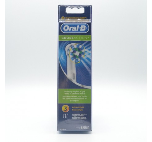 ORAL-B RECAMBIO C.E.CROSS ACTION 3 U Parafarmacia