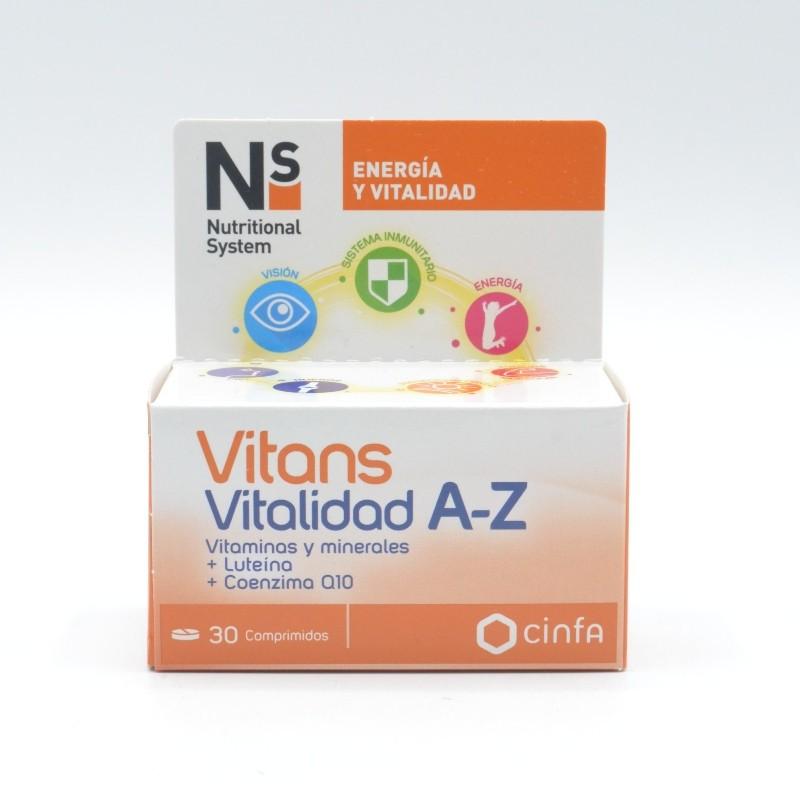 NS VITANS VITALIDAD A-Z 30 COMPRIMIDOS Parafarmacia