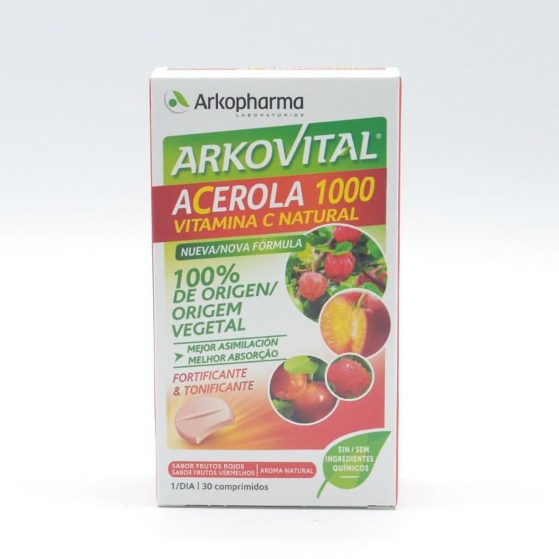 ARKOVITAL ACEROLA 1000 VITAMINA C 30 COMP Parafarmacia