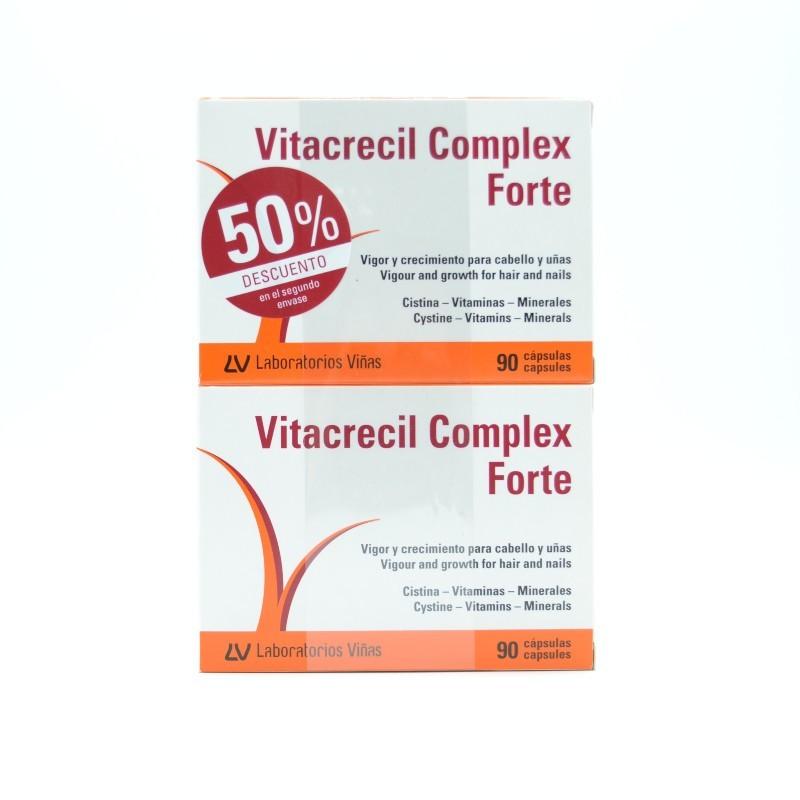VITACRECIL COMPLEX FORTE 90 + 90 CAP DUPLO 50% DTO 2º U Parafarmacia