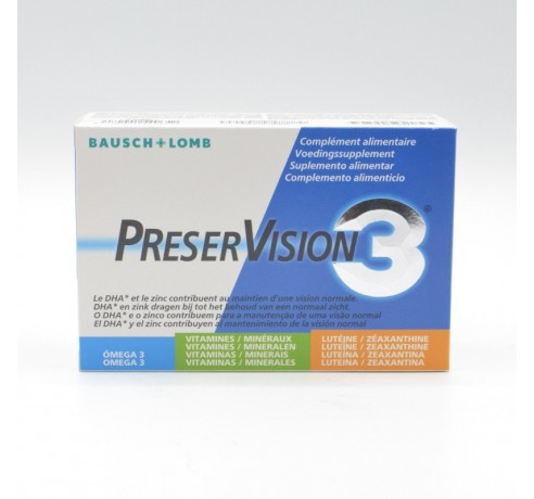 PRESERVISION 3 60 CAPSULAS Parafarmacia