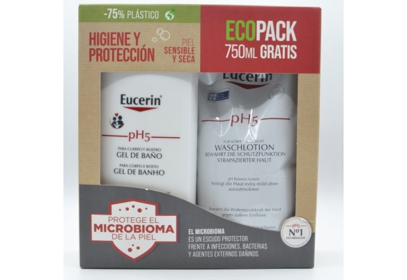 EUCERIN GEL ECOPACK 1L + 750ML GRATIS Parafarmacia