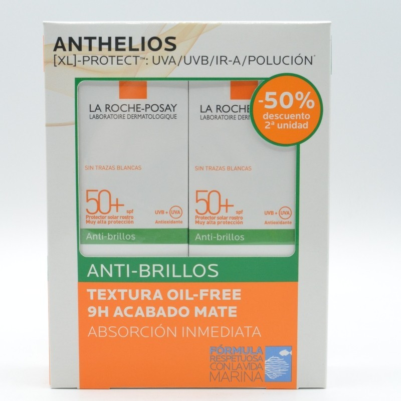ANTHELIOS ROSTRO CREMA ANTI-BRILLOS 50+ DUPLO 50 Parafarmacia