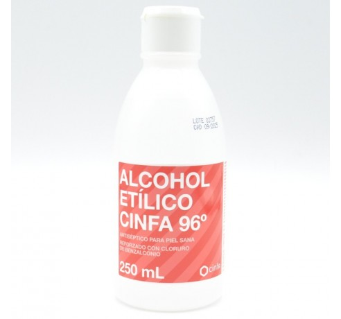 ALCOHOL 96º CINFA 250ML Parafarmacia