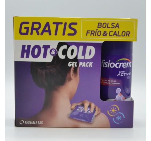 FISIOCREM SPRAY ACTIVE ICE 150 ML+BOLSA FRIO GRATIS Parafarmacia