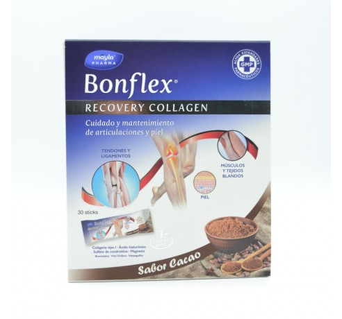 BONFLEX RECOVERY COLAGENO 30STICKS CACAO Parafarmacia