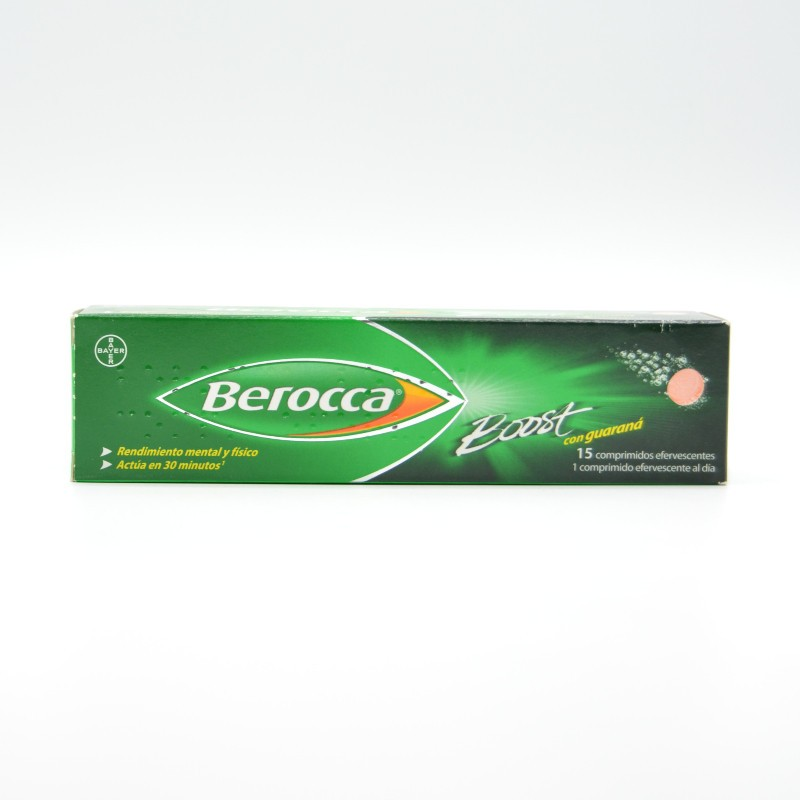 BEROCCA BOOST 15 COMP.EFERV. Parafarmacia