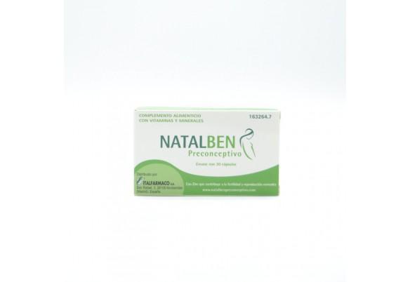NATALBEN PRECONCEPTIVO 30 CAPS Parafarmacia