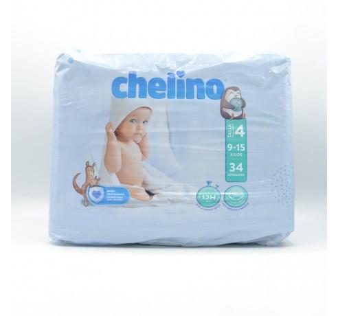 PAÑAL CHELINO T/4 (9-15KG) 34 U Parafarmacia