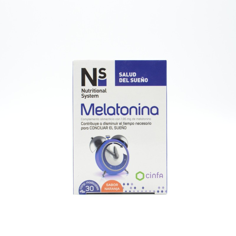 NS MELATONINA COMPRIMIDOS MASTICABLES NARANJA 1.95 MG Parafarmacia