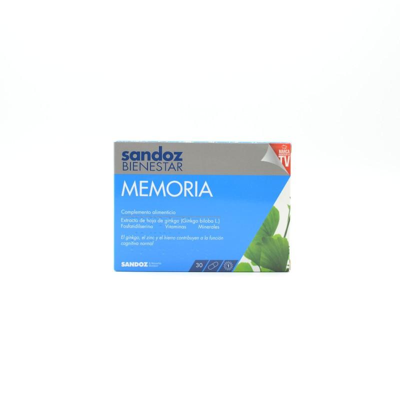 SANDOZ BIENESTAR MEMORIA 30CAP Parafarmacia