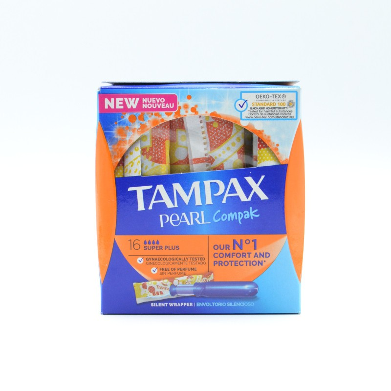 TAMPAX COMPAK PEARL SUPER PLUS 18 U Parafarmacia