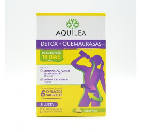 AQUILEA DETOX+QUEMAGRASAS 10 STICKS Parafarmacia