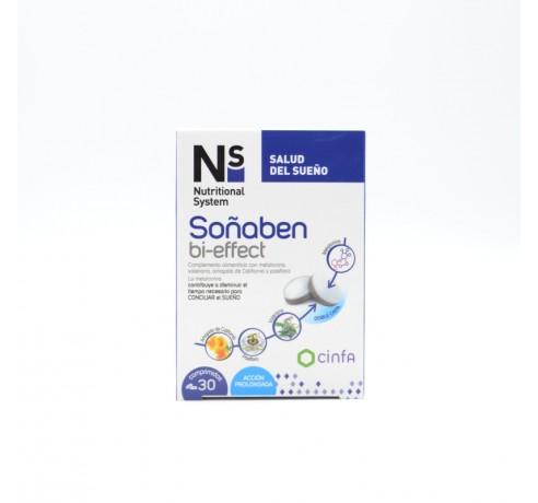 NS SOÑABEN BI-EFFECT 1,85 MG MELATONINA 30 COMP Parafarmacia